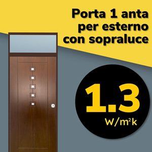 porta blindata certificata per esterno con sopraluce