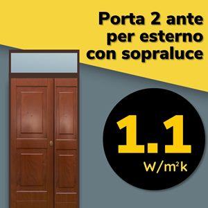 porta blindata certificata per esterno a 2 ante