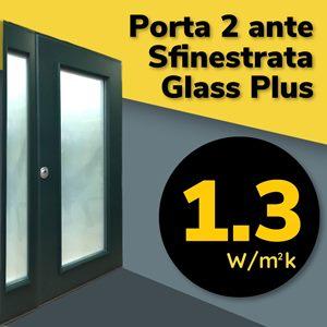 porta blindata certificata finestrata 2 ante