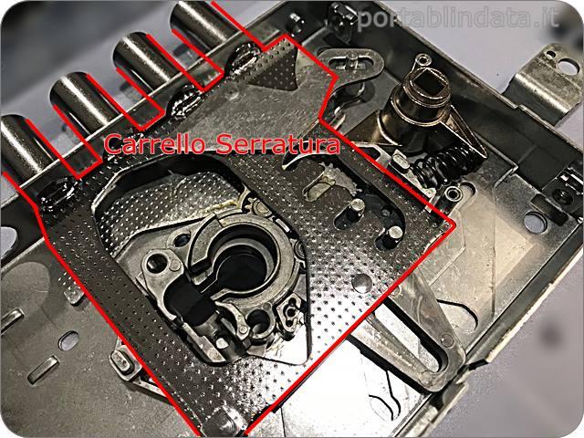 serrature con trappola ingranaggi Iseo