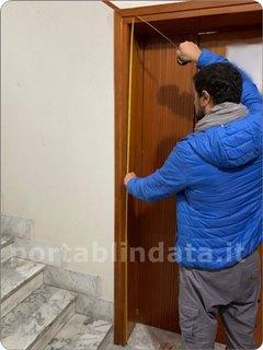 Come prendere rilevare ottenere le misure per costruire preventivare una porta blindata su misura