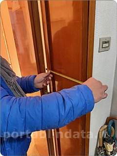 misure porta blindata